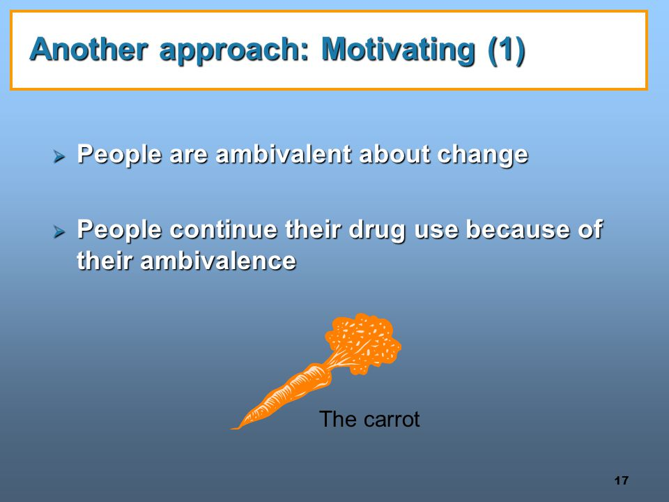 Another approach: Motivating (1)