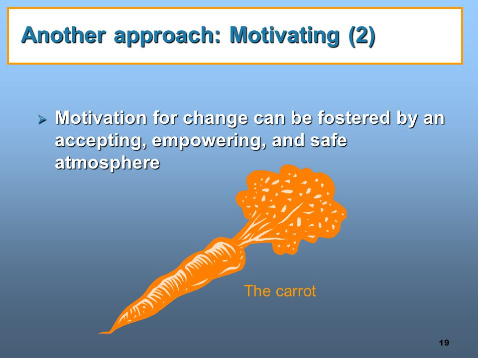 Another approach: Motivating (2)