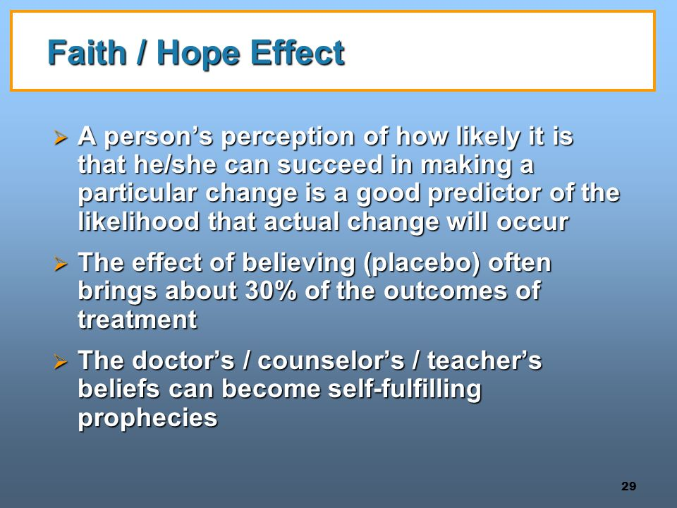 Faith / Hope Effect