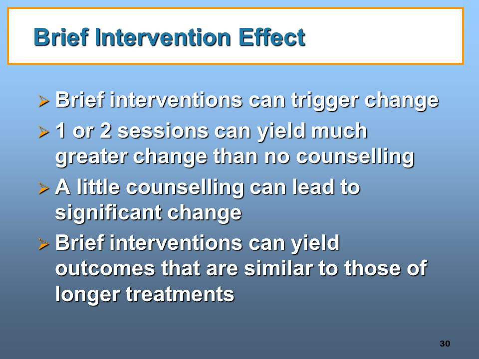 Brief Intervention Effect