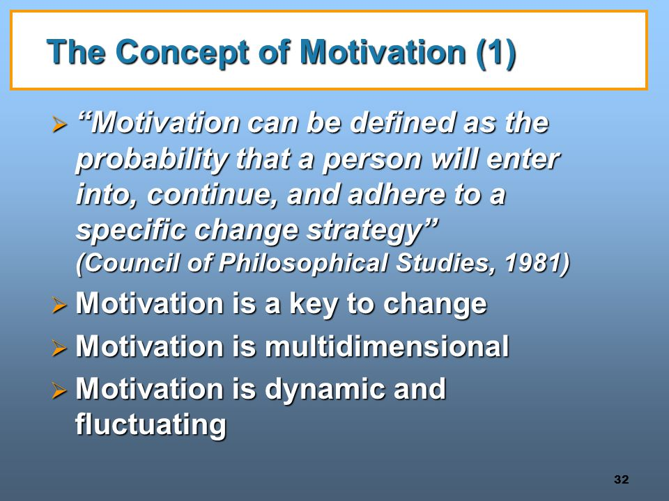 The Concept of Motivation (1)
