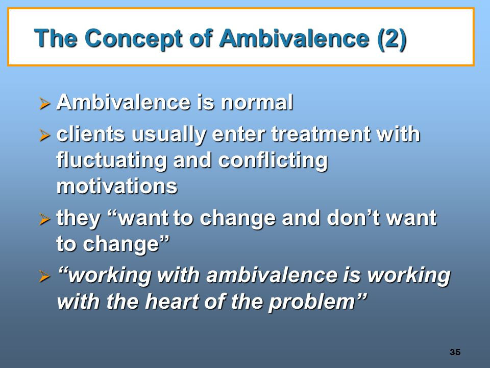 The Concept of Ambivalence (2)