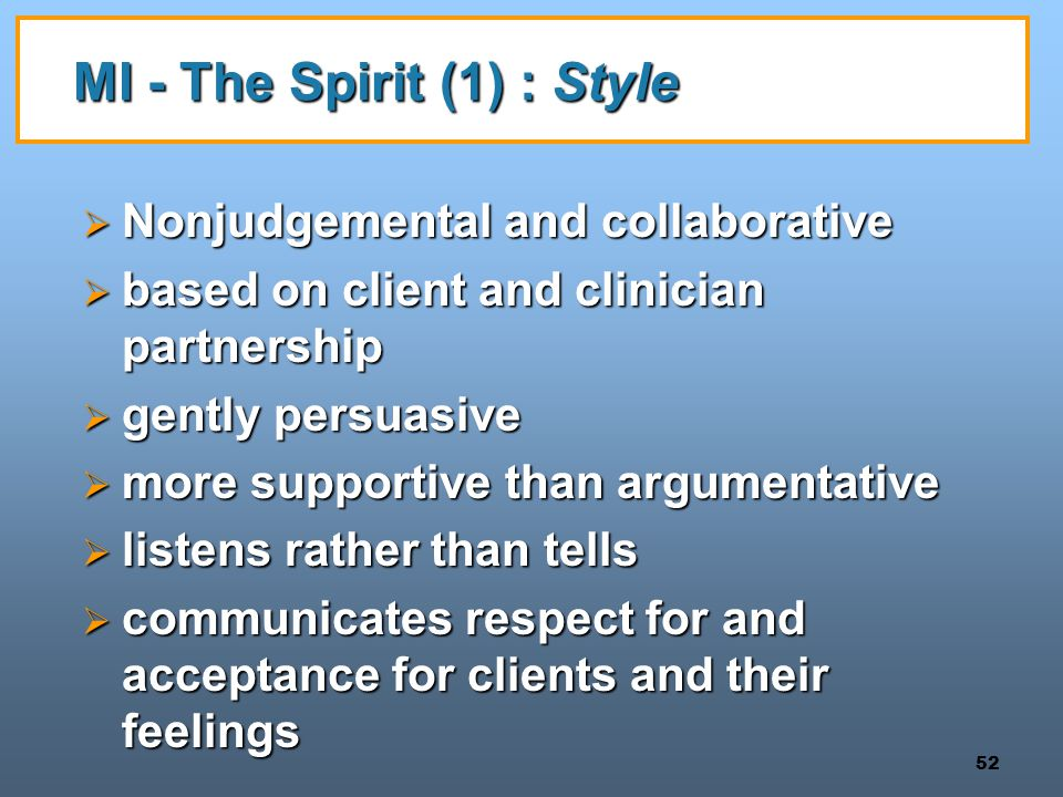 MI - The Spirit (1) : Style