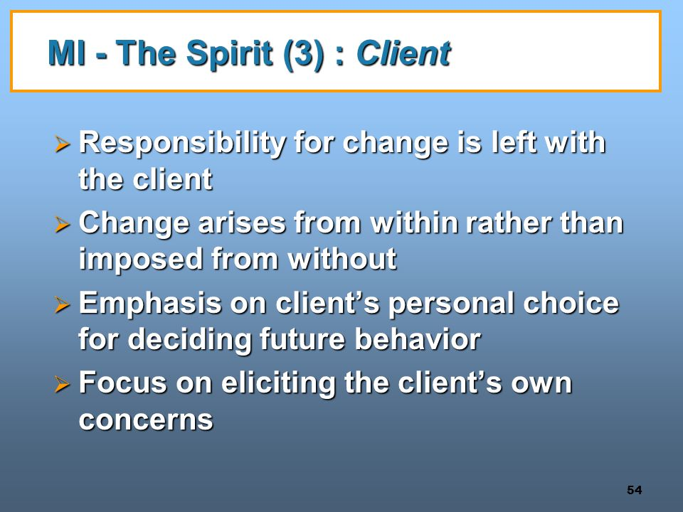 MI - The Spirit (3) : Client