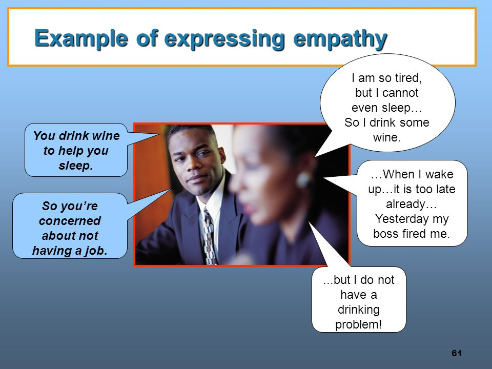 Example of expressing empathy