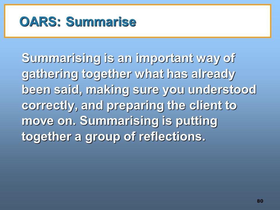 OARS: Summarise
