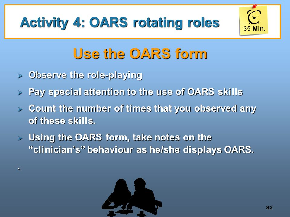 Activity 4: OARS rotating roles