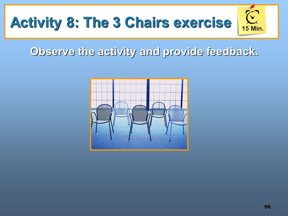 Activity 8: The 3 Chairs exercise