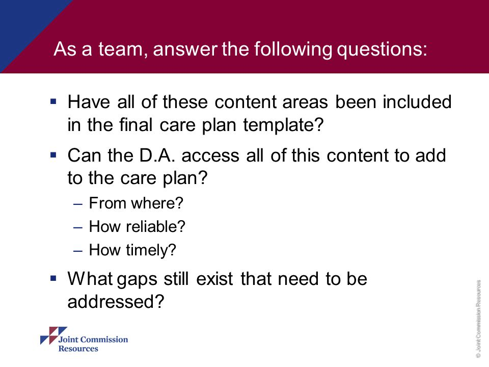 As a team, answer the following questions: