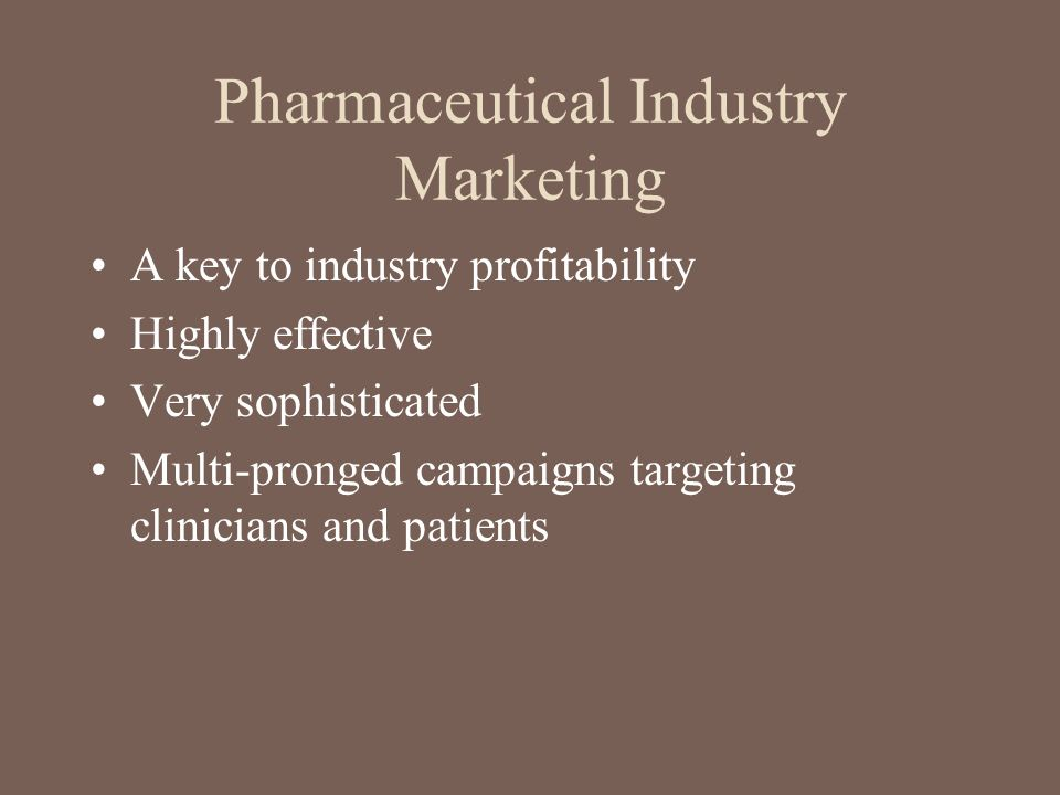 Pharmaceutical Industry Marketing