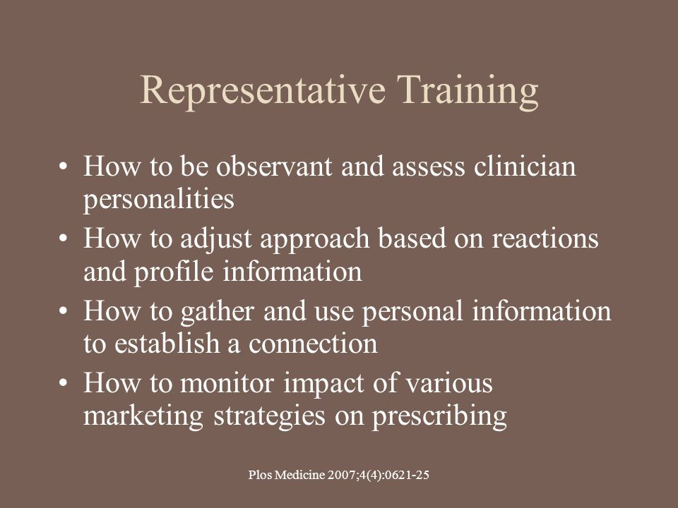 Representative Training