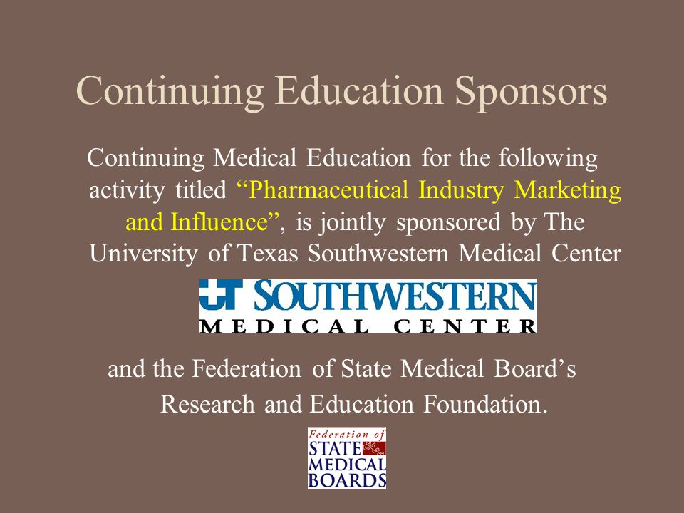 Continuing Education Sponsors