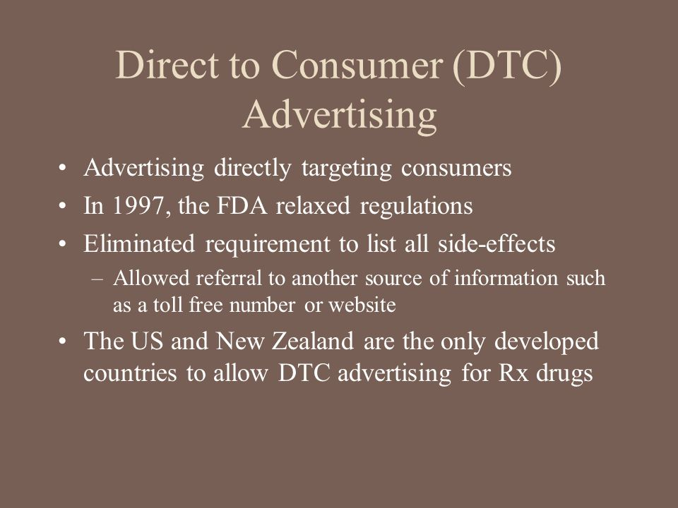 Direct to Consumer (DTC) Advertising
