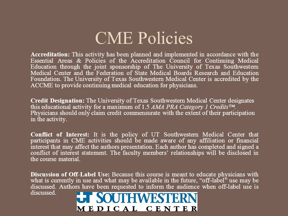 CME Policies
