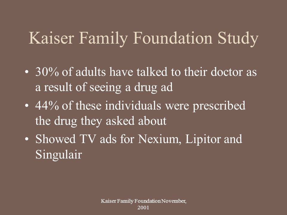 Kaiser Family Foundation Study
