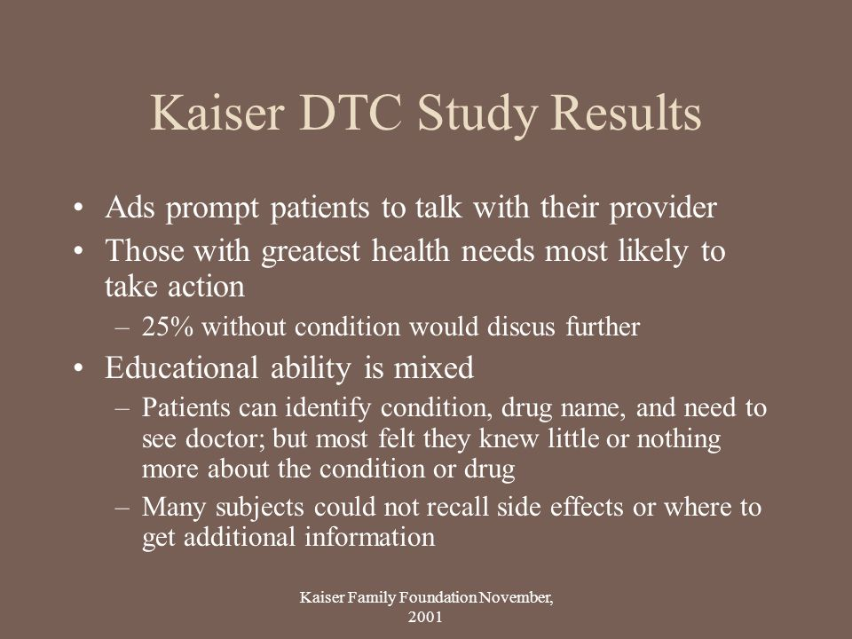 Kaiser DTC Study Results