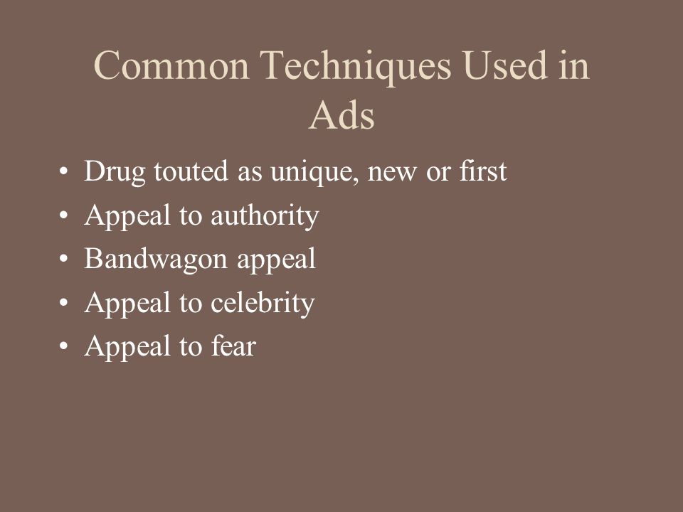 Common Techniques Used in Ads