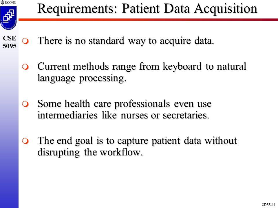 Requirements: Patient Data Acquisition