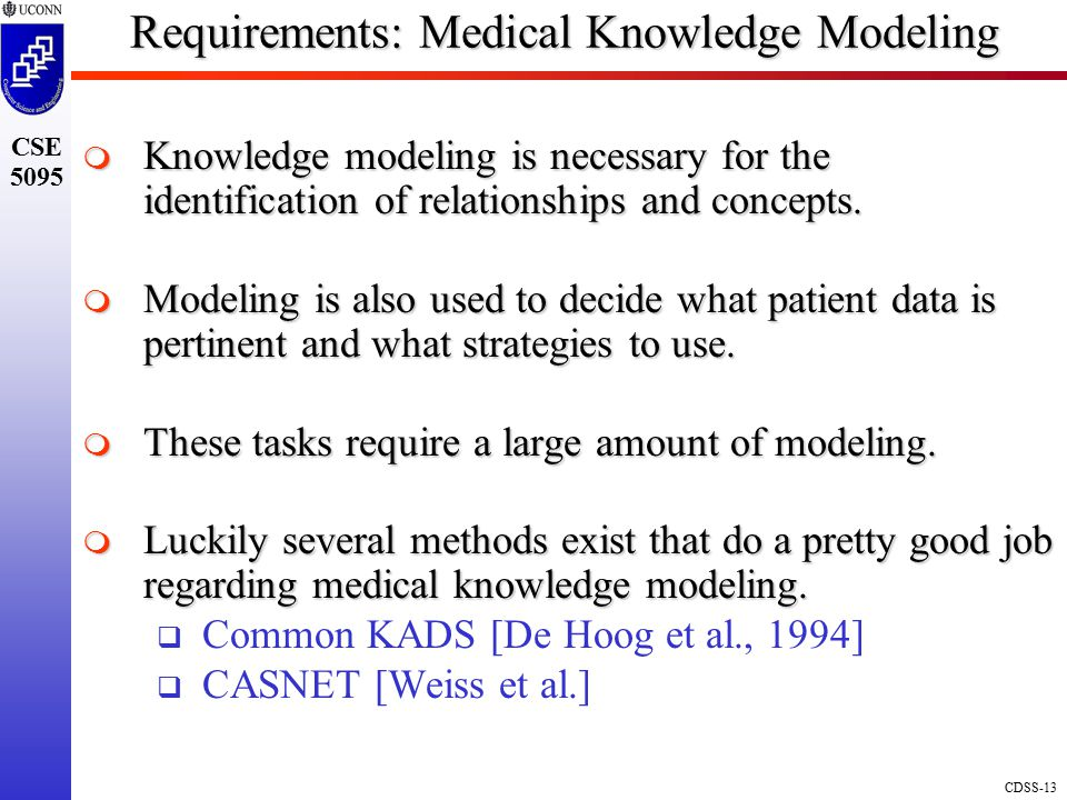 Requirements: Medical Knowledge Modeling