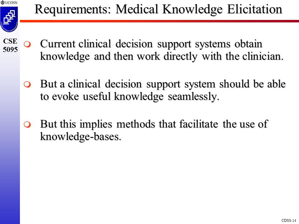 Requirements: Medical Knowledge Elicitation