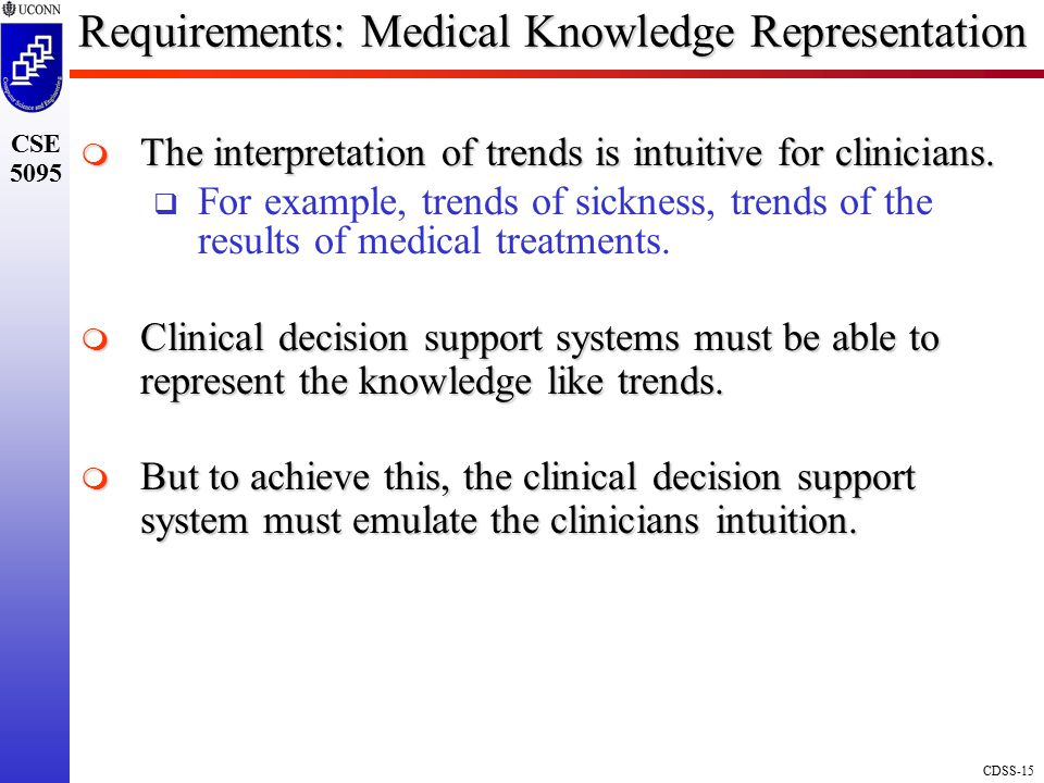 Requirements: Medical Knowledge Representation