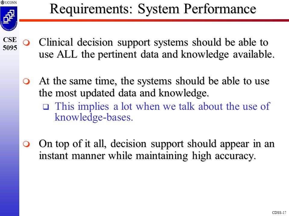 Requirements: System Performance