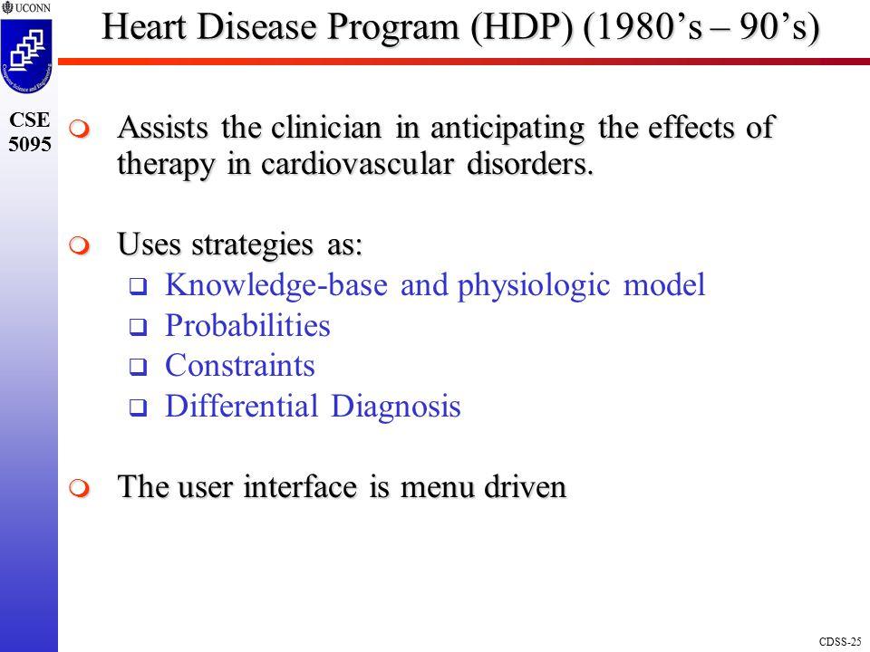 Heart Disease Program (HDP) (1980's – 90's)