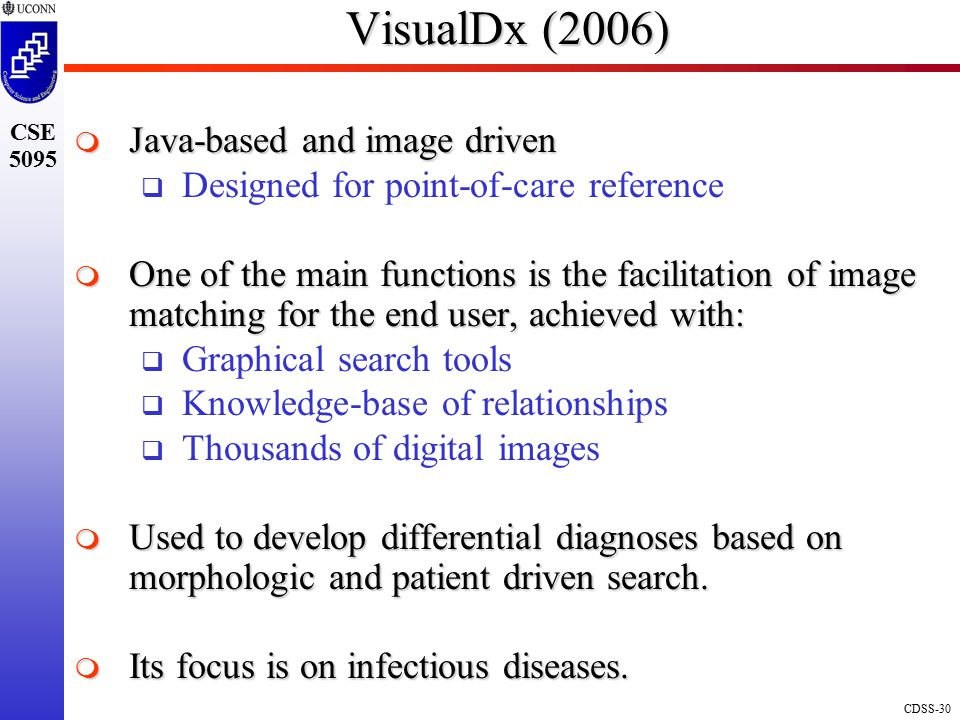 VisualDx (2006) Java-based and image driven