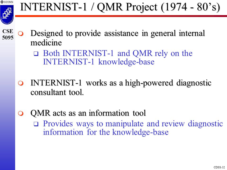 INTERNIST-1 / QMR Project (1974 - 80's)