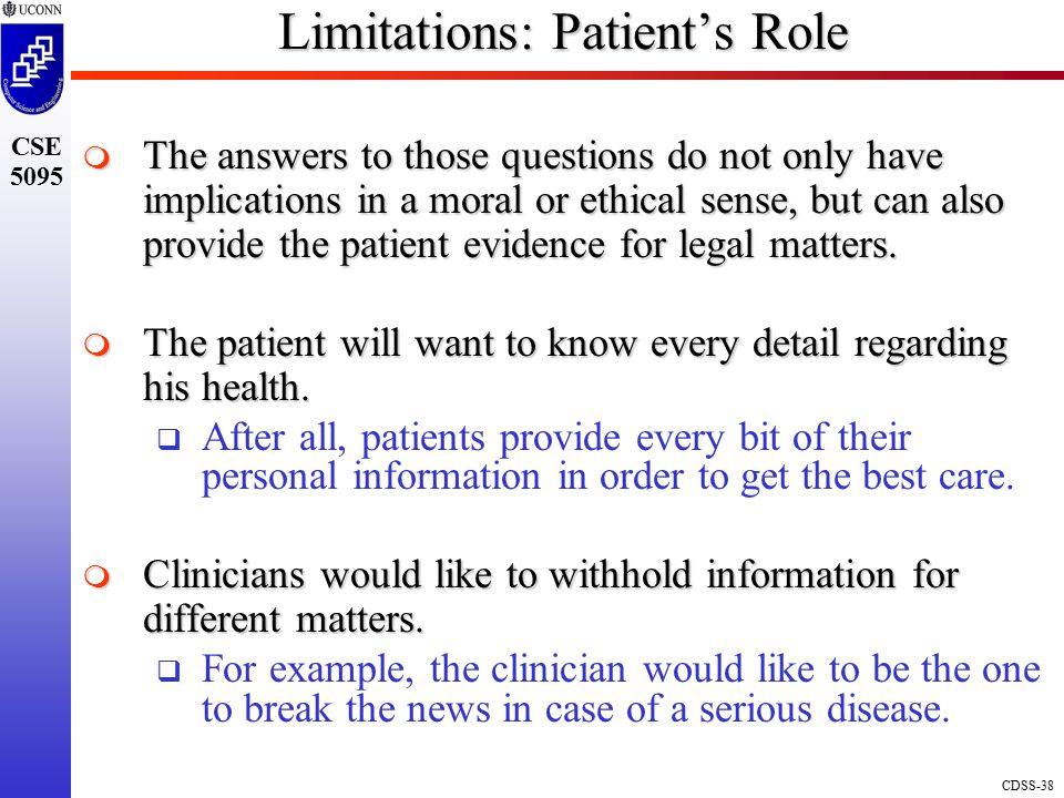 Limitations: Patient's Role