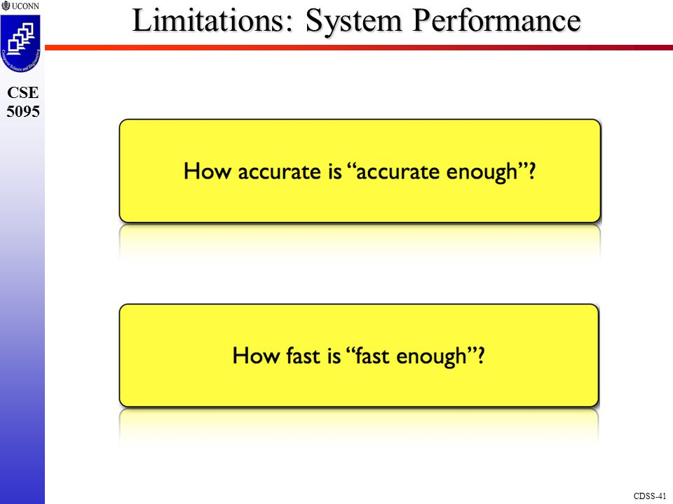 Limitations: System Performance