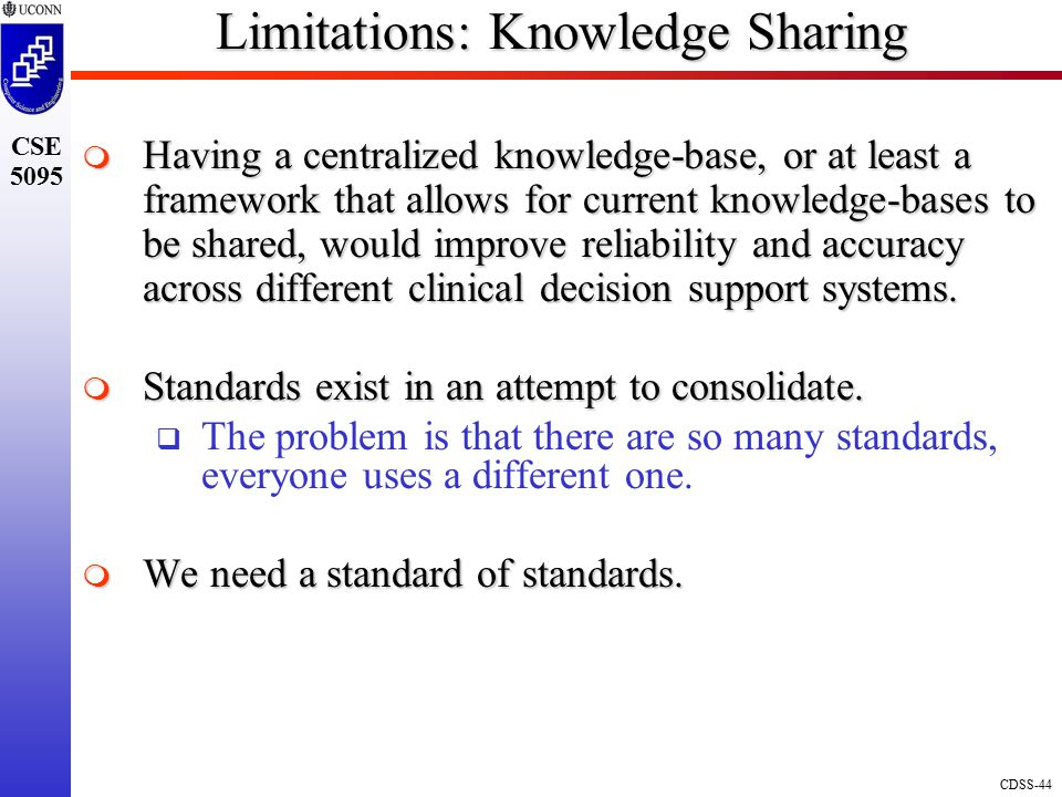 Limitations: Knowledge Sharing
