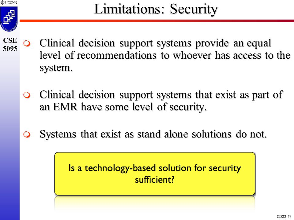 Limitations: Security