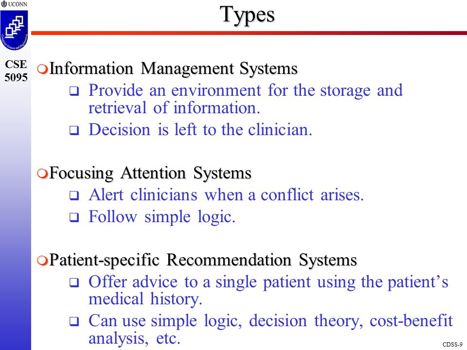 Types Information Management Systems