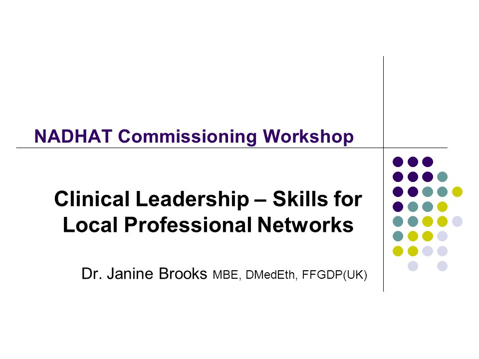 NADHAT Commissioning Workshop