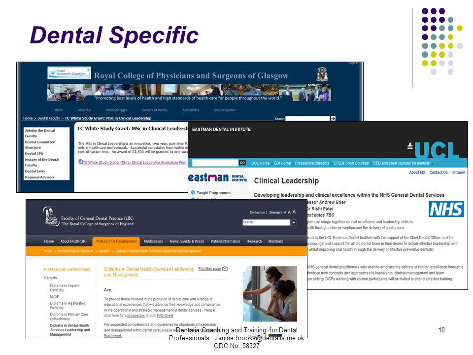 Dental Specific Dentalia Coaching and Training for Dental Professionals.