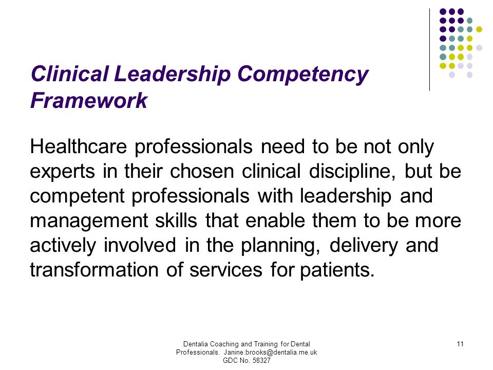 Clinical Leadership Competency Framework