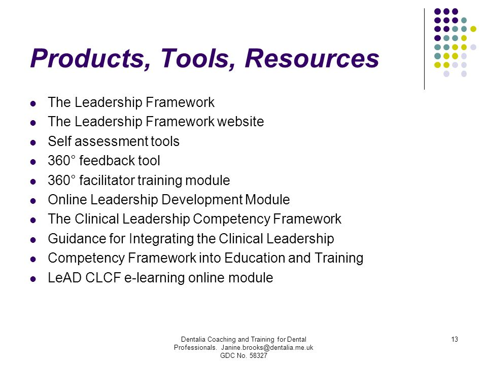 Products, Tools, Resources