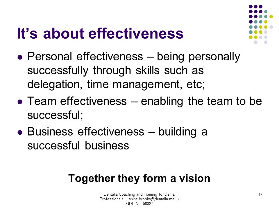 It's about effectiveness
