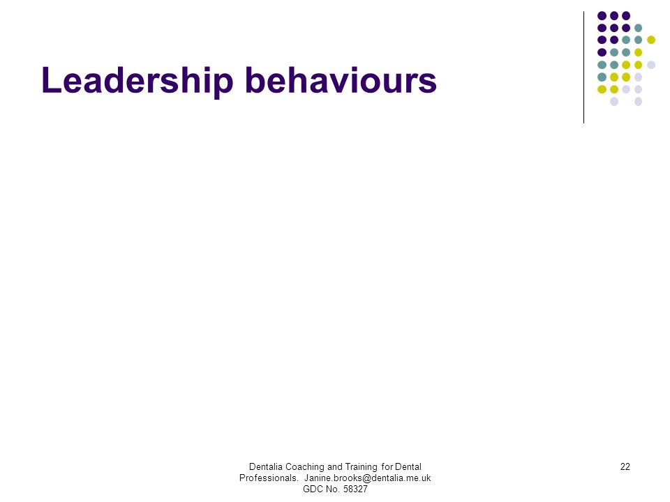 Leadership behaviours
