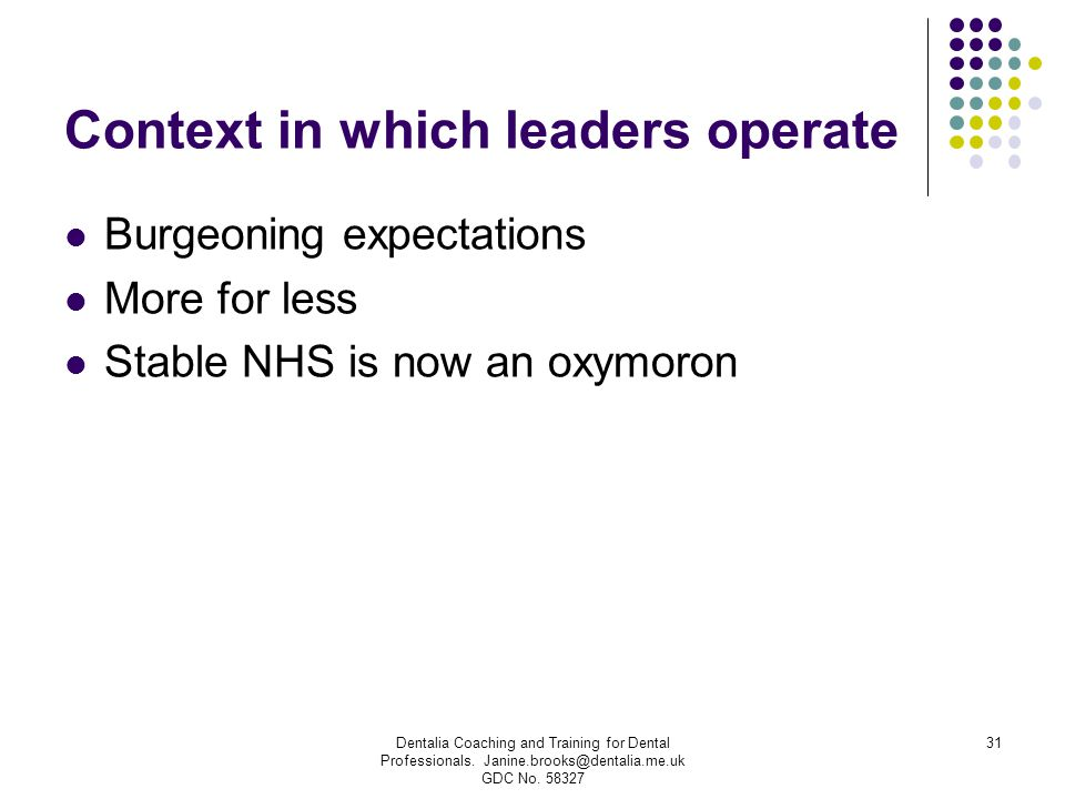 Context in which leaders operate