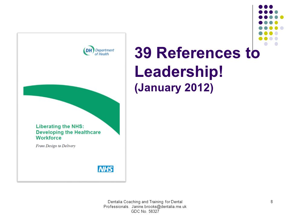 39 References to Leadership! (January 2012)