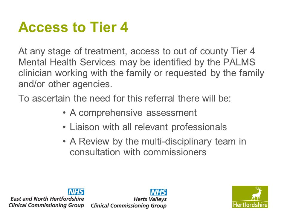 Access to Tier 4