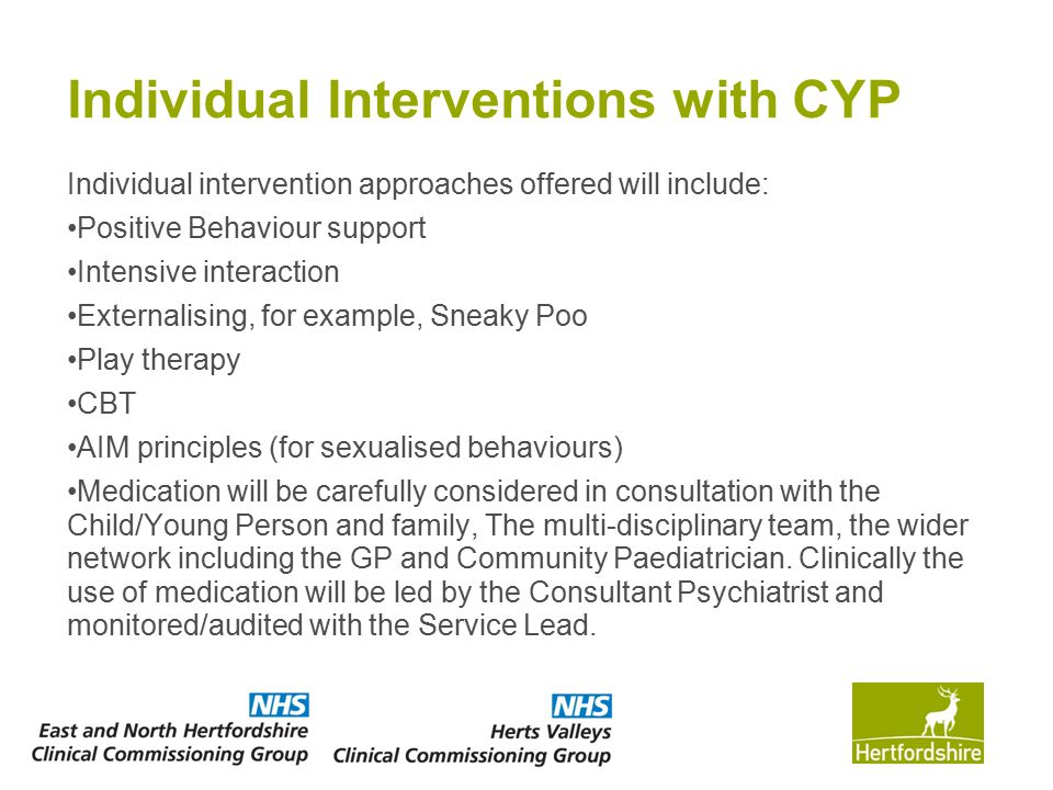 Individual Interventions with CYP