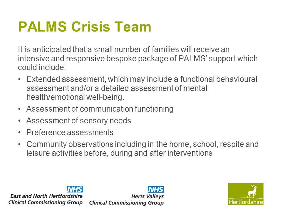 PALMS Crisis Team