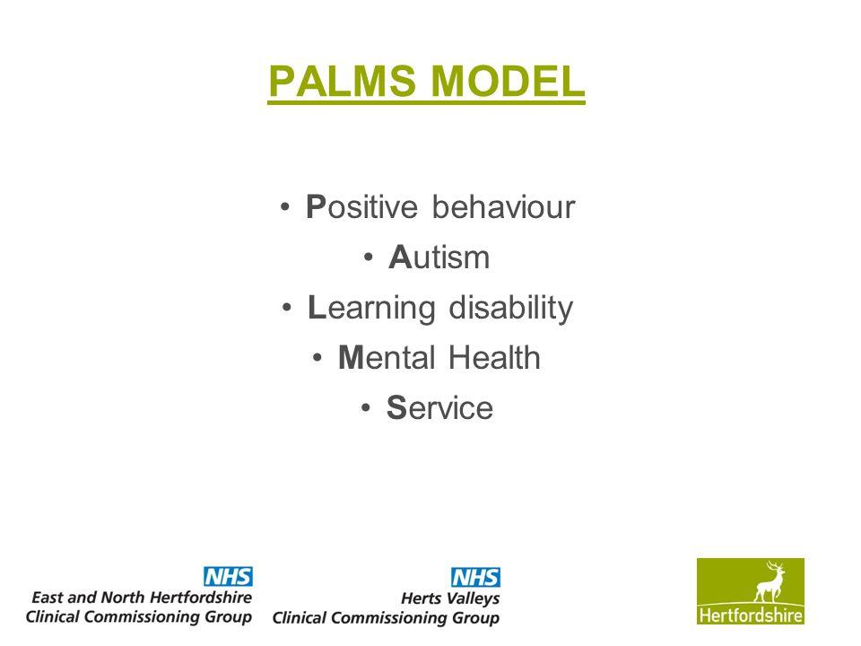 PALMS MODEL Positive behaviour Autism Learning disability