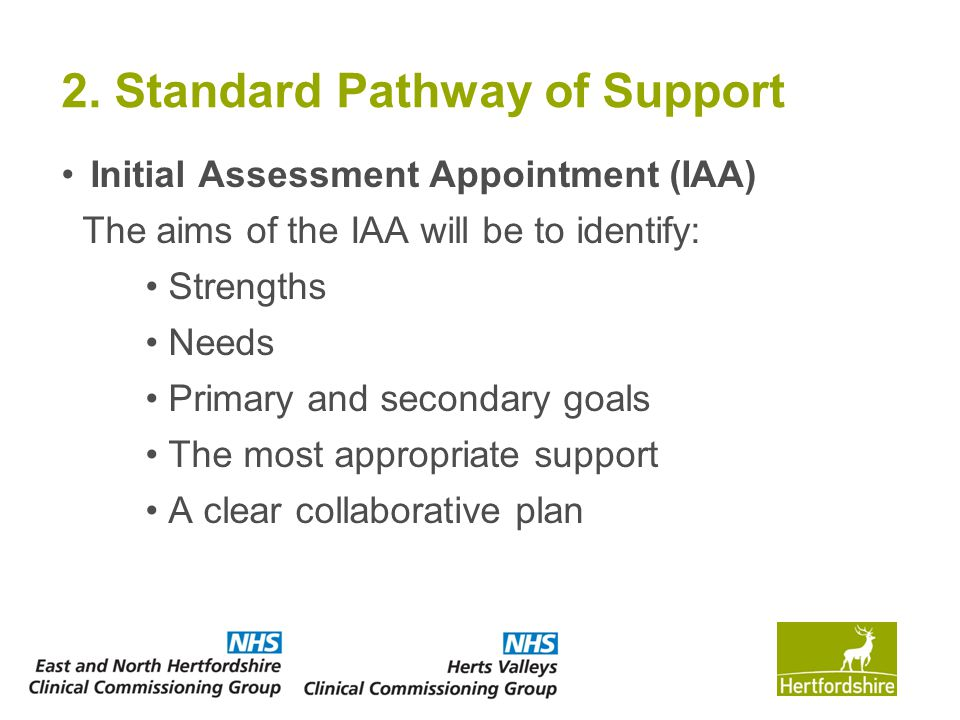 2. Standard Pathway of Support