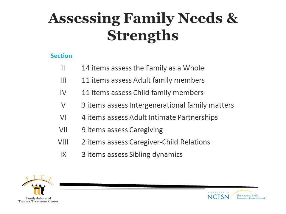 Assessing Family Needs & Strengths