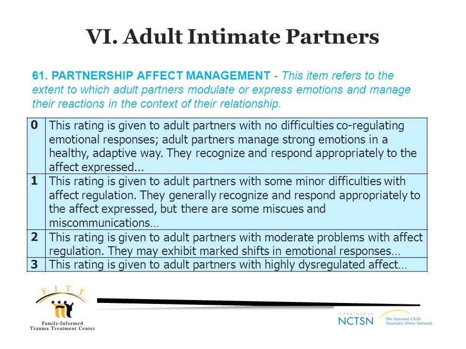 VI. Adult Intimate Partners