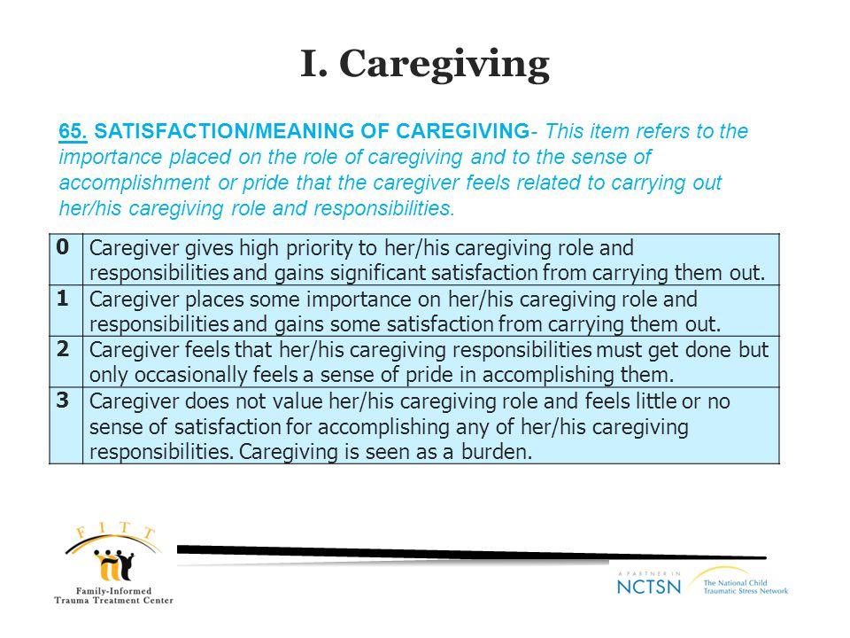 I. Caregiving